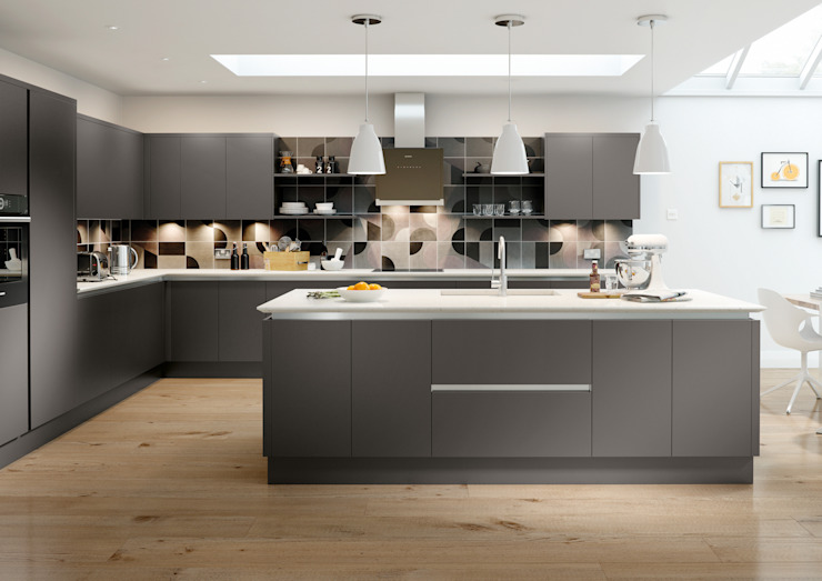 Vivo Matt Anthracite Fitted Kitchens London : modern by Metro Wardrobes London, Modern