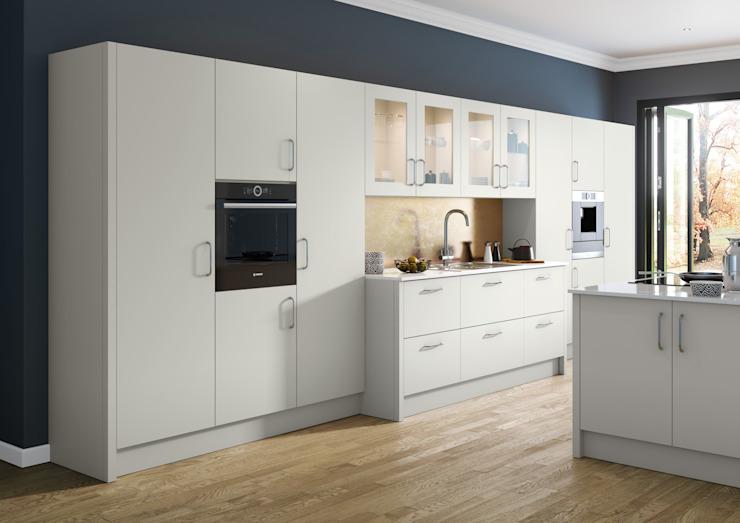 Vivo Matt Light Grey Fitted Kitchens London : modern by Metro Wardrobes London, Modern