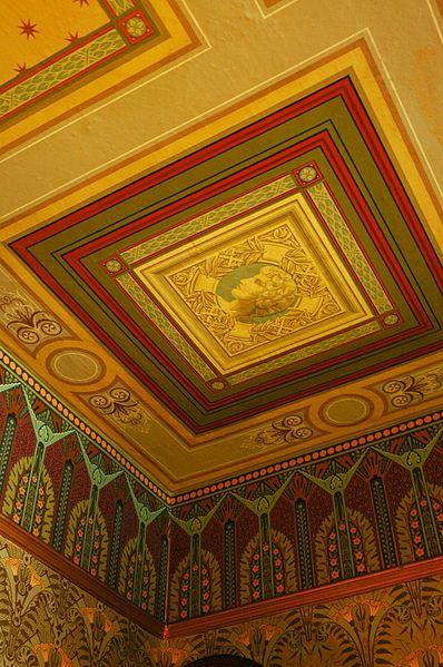 plafond de papier peint