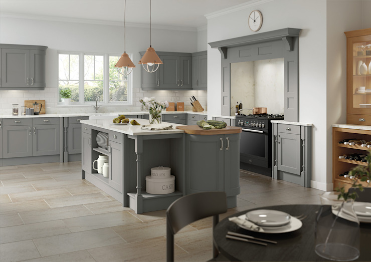 Windsor Grey Fitted Kitchens London : modern by Metro Wardrobes London, Modern