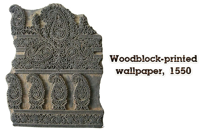 woodblock-printed