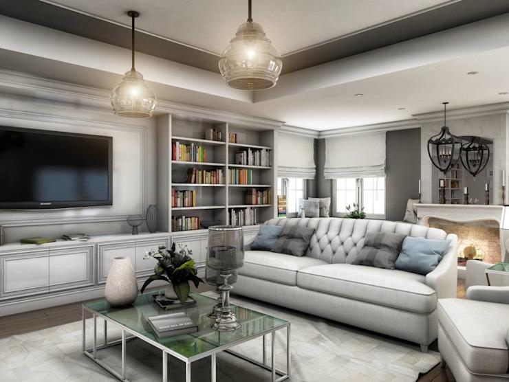 Yunus Emre | Design d'intérieur Salon moderne par VERO CONCEPT MİMARLIK Moderne