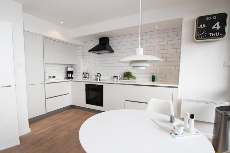 Design de cuisine blanc mat Cuisine moderne de LWK London Kitchens Modern