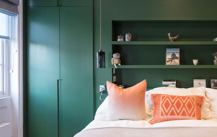 Chambre à coucher verte Chambre à coucher de style moderne par Architecture for London Modern