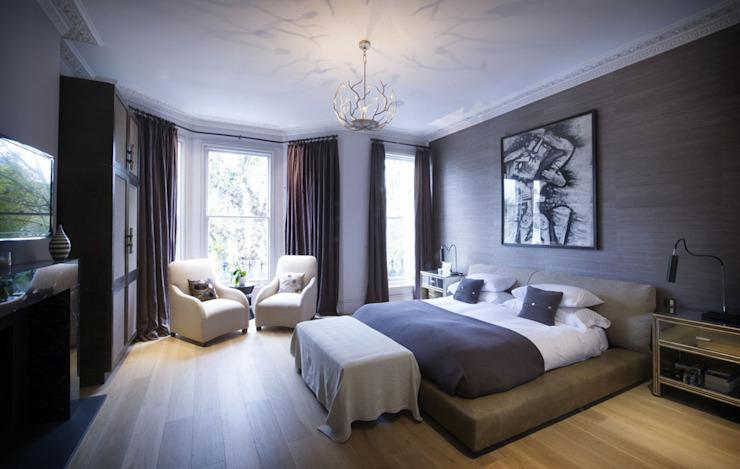 St James's Gardens, Londres Chambre à coucher de style moderne par Nelson Design Limited Modern