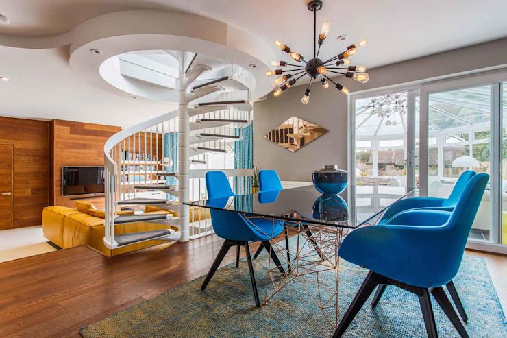 Mid Century Eclectic Salle à manger de style éclectique par Pfeiffer Design Ltd Eclectic