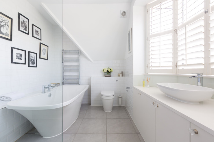 Broadgates Road Salle de bain minimaliste par Granit Architects Minimalist