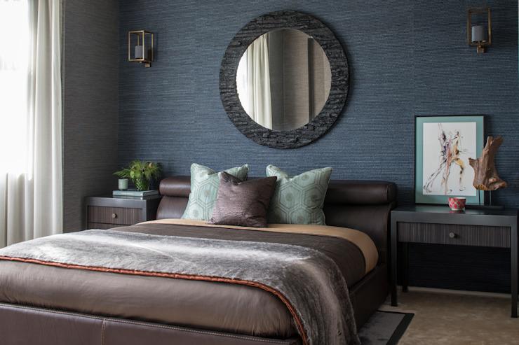 Broad Walk Guest Bedroom Chambre à coucher de style moderne par Roselind Wilson Design Modern