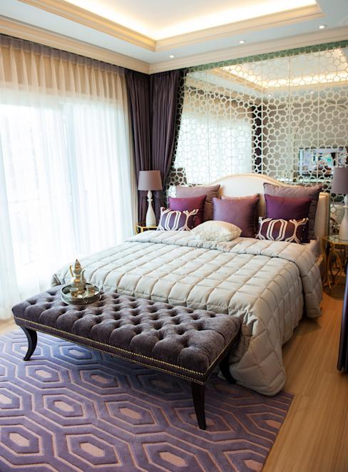 Tête de lit en miroir Chambre de style classique par Gracious Luxury Interiors Classic