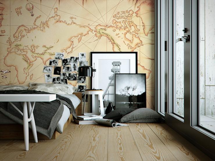 Carte aux trésors Chambre de style éclectique par Pixers Eclectic
