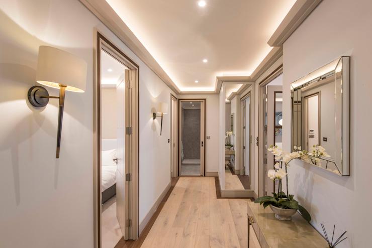 Hall Couloir, couloir et escaliers modernes par Prestige Architects Par Marco Braghiroli Modern
