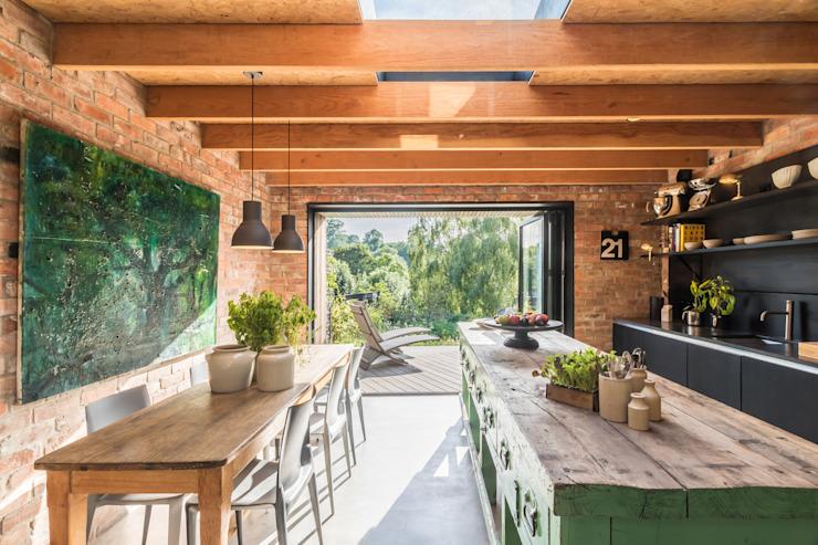 Miner's Cottage II, étage design Cuisine de style rustique