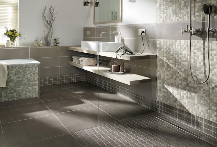 Mosaïque antidérapante Salle de bains moderne par The Mosaic Company Modern