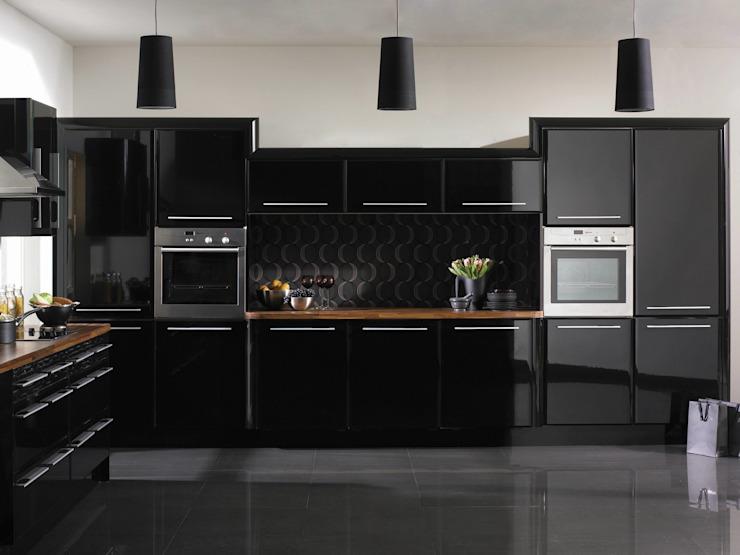Cuisine en pisa noir brillant : moderne par Dream Doors Ltd, moderne