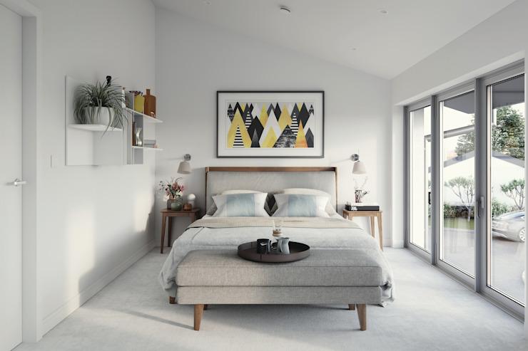 Hilgrove Mews Chambre à coucher de style moderne par Ruin Studio Modern