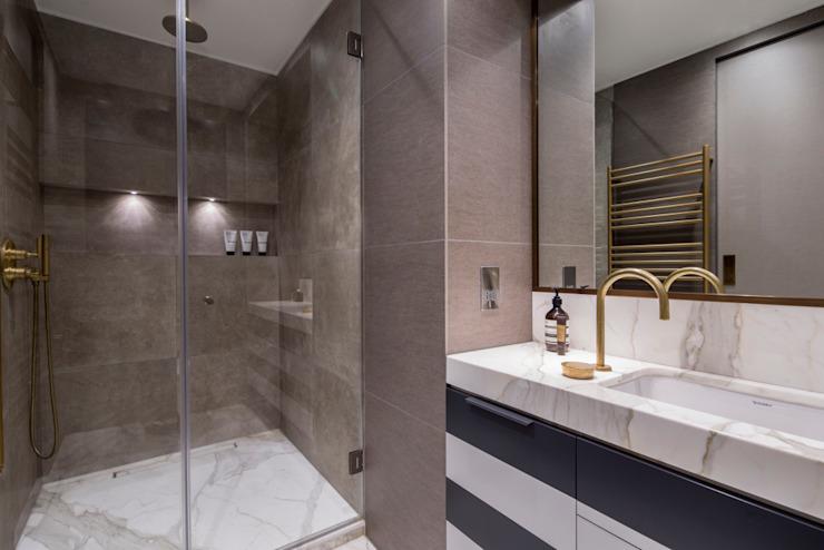 Appartement Fitzrovia - Salle de bains principale Salle de bains moderne par Roselind Wilson Design Modern