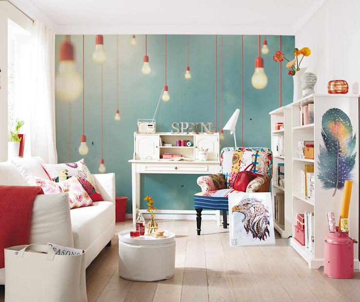 Lampes suspendues Salon de style éclectique par Pixers Eclectic