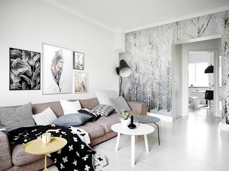 Salon de style éclectique Cold Nature par Pixers Eclectic