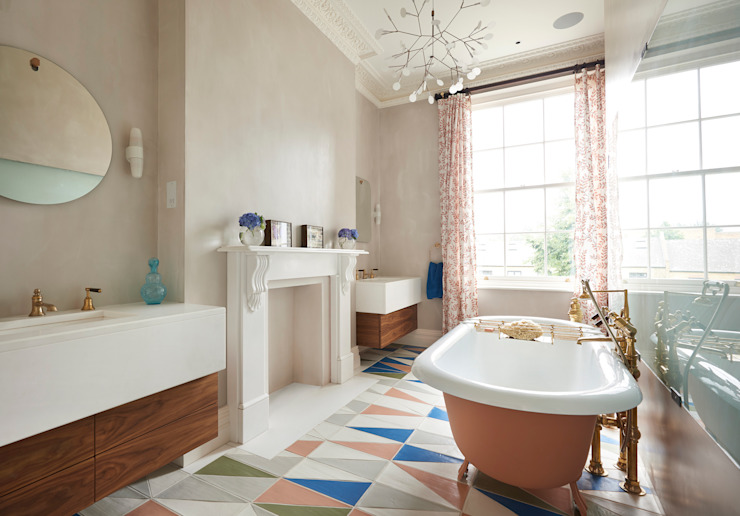 L'étude de cas de Drummond : Maison de ville de Londres, Notting Hill : rustique par Drummonds Bathrooms, Rustique