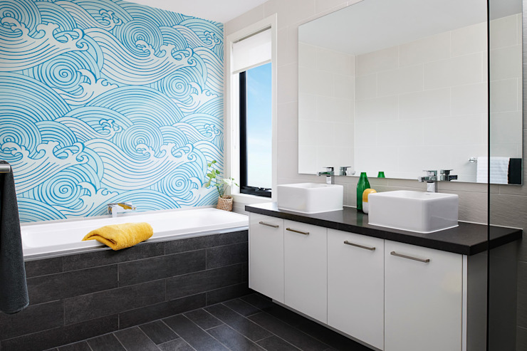 La salle de bain Waves Modern de Pixers Modern