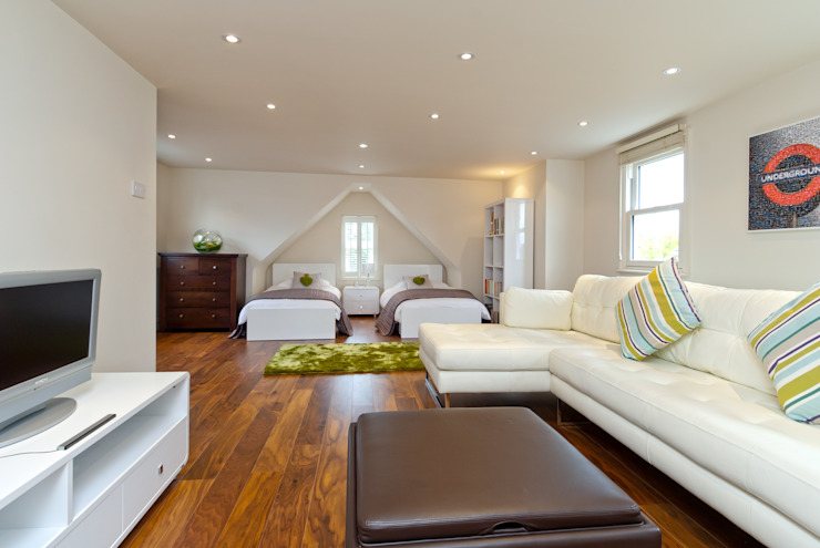 Grande chambre / studio moderne Chambre de style moderne par A1 Lofts and Extensions Modern