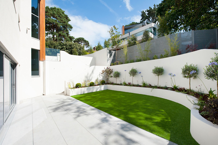 Brudenell Avenue, Canford Cliffs, Poole Jardin moderne par David James Architects & Partners Ltd Modern
