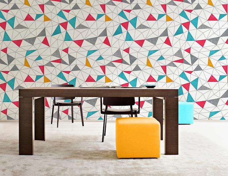Triangles colorés Salle à manger moderne par Pixers Modern