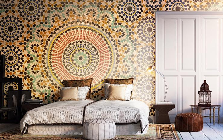 Chambre à coucher de style colonial en mosaïque orientale par Pixers Colonial