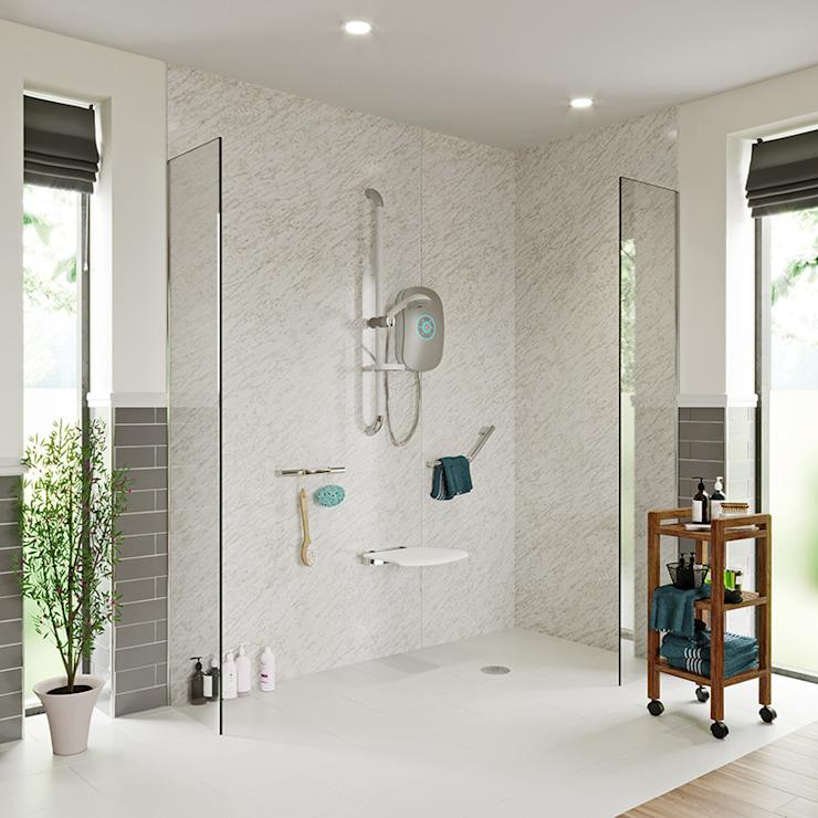 Vie autonome - Idées de salle de bains Salle de bains moderne par Victoria Plum Modern Glass
