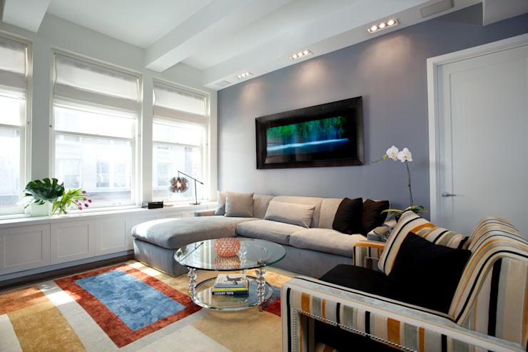 Salon de style Bachelor Pad Classic par JKG Interiors Classic