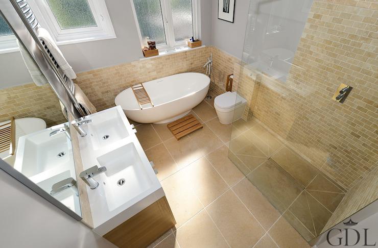 Salle de bains familiale, SW19 Salle de bains moderne par Grand Design London Ltd Modern