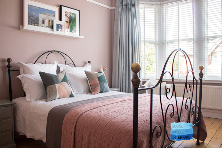 Rafraîchissement des chambres à coucher Chambre à coucher de style moderne par Louise Misell Interiors Modern