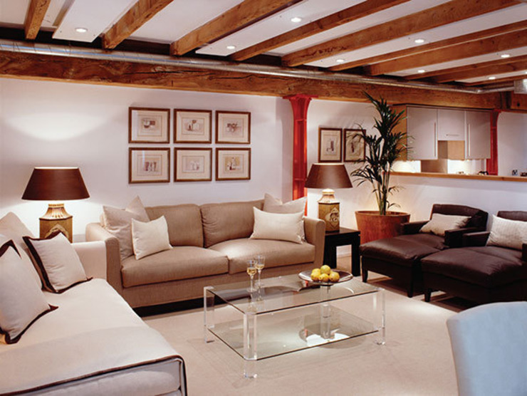 Appartement d'entrepôt Salon de style classique par 4D Studio Architects and Interior Designers Classic