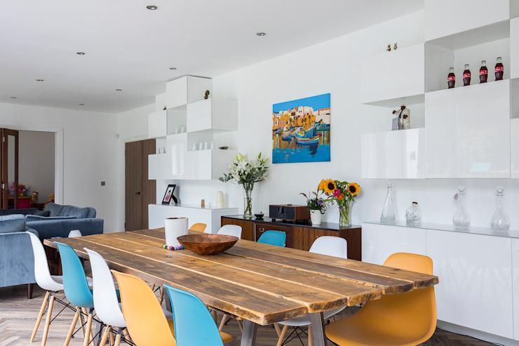 Whole House Renovation, Cheam, Surrey Salle à manger moderne par Model Projects Ltd Modern