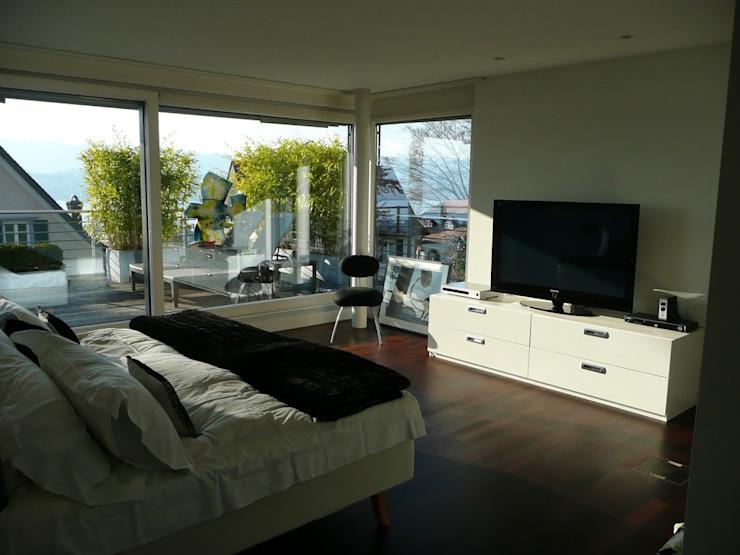 Appartement à Zurich Chambre de style éclectique par 4D Studio Architects and Interior Designers Eclectic