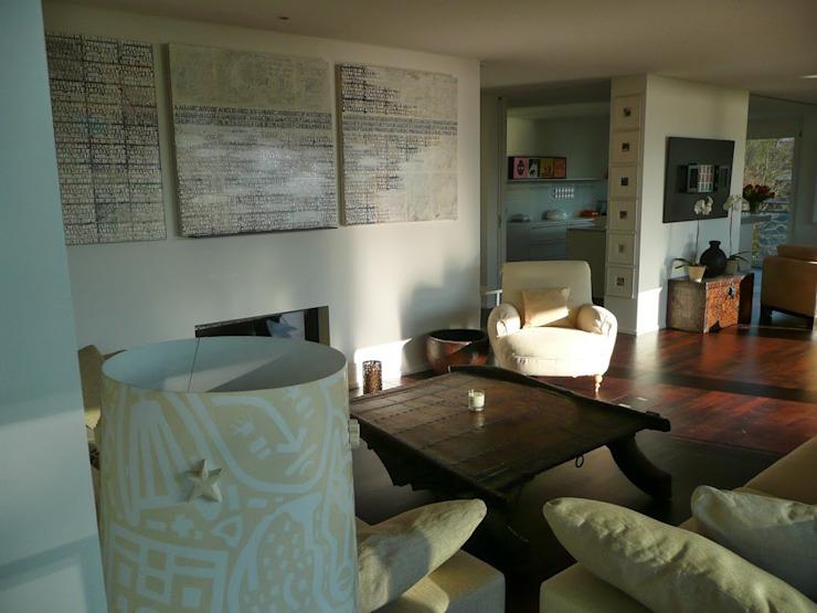 Appartement à Zurich Salon de style éclectique par 4D Studio Architectes et décorateurs d'intérieur éclectiques
