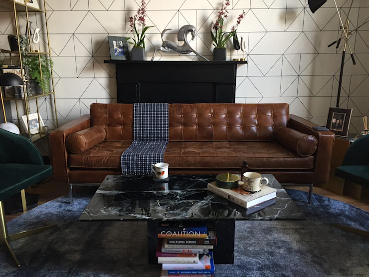 Belsize Park Flat Salon moderne par Orkun İndere Interiors Modern Marble