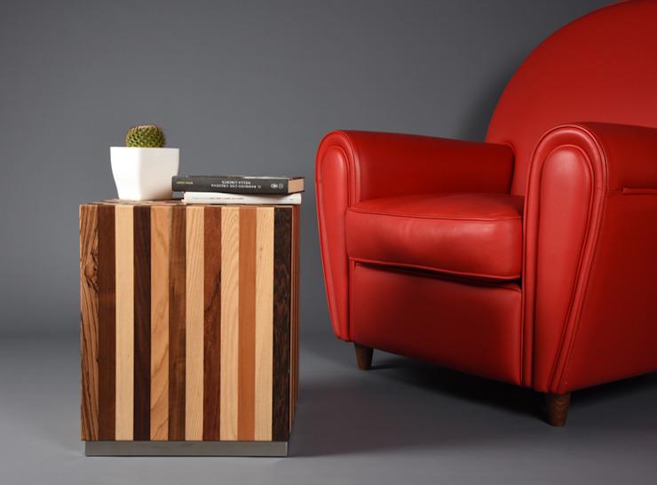 Chambre à coucher minimaliste d'Ebanisteria Cavallaro Effet bois minimaliste