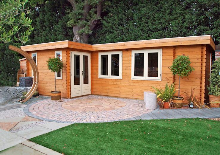Log Cabin Jardin moderne par homify Modern Wood Effet bois