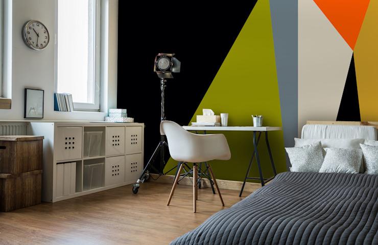 Angles 4' Retro Wallpaper étude/bureau minimaliste par Wallsauce.com Minimalist