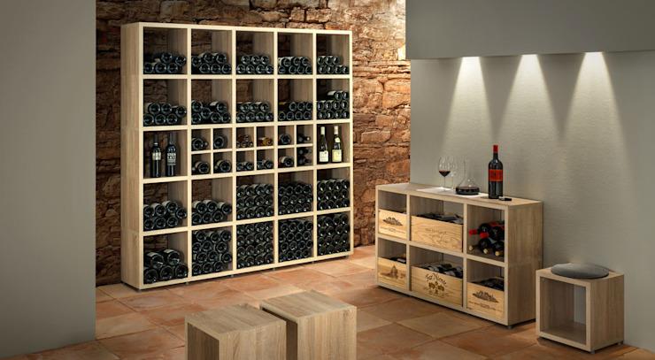 BOON-Cube Storage Units - Racks à vin Cave à vin de style rustique par Regalraum UK Rustic