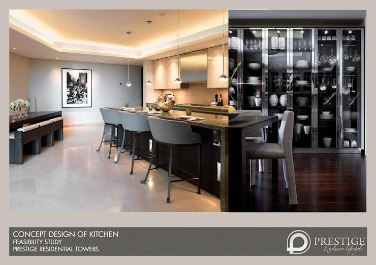 Conception de la cuisine Salle à manger moderne par Prestige Architects Par Marco Braghiroli Modern