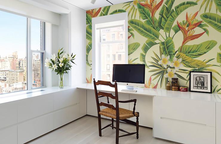 L'étude/bureau de style Rainforest Colonial par Pixers Colonial