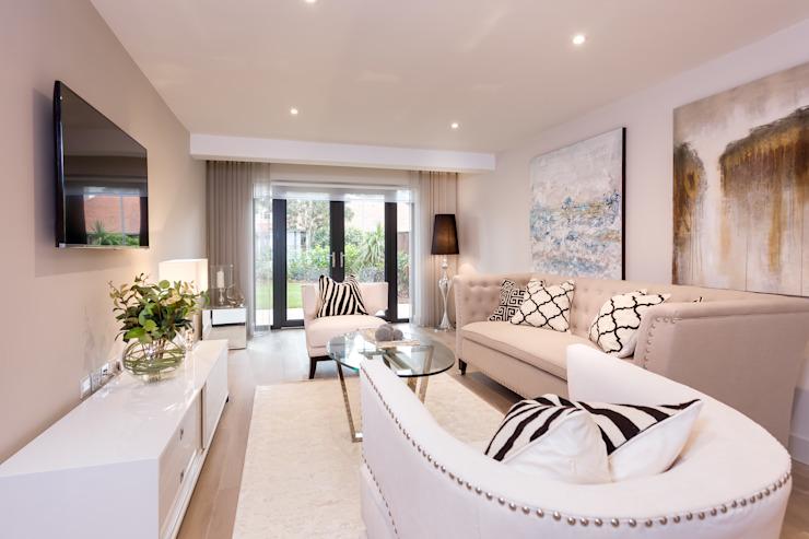 Sandbanks Show apartment Modern living room by SMB Interior Design Ltd Modern