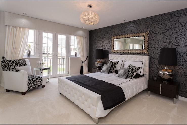 Chambre à coucher moderne monochrome de style classique par Graeme Fuller Design Ltd Classic