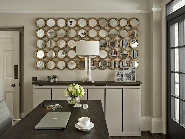 Maison familiale dans le village de Dulwich Étude/bureau de style éclectique par Tailored Living Interiors Effet bois éclectique