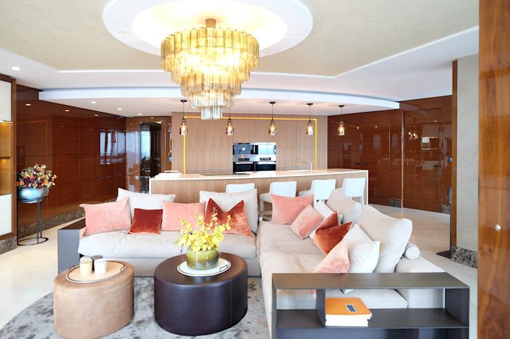 Appartement penthouse, Vauxhall Salle de séjour moderne par Keir Townsend Ltd. Moderne