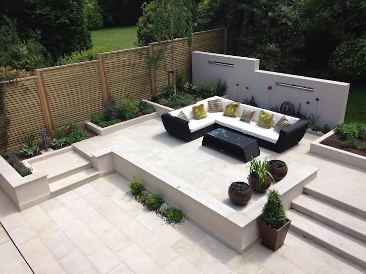 Terrasse avec mobilier Jardin moderne par Gardenplan Design Modern