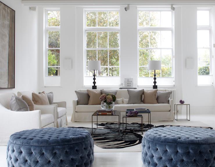 Léger et lumineux ! Salon de style classique par CC Construction Classic