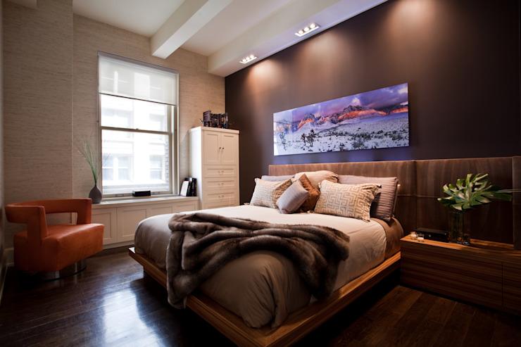 Bachelor Pad Minimaliste chambre à coucher par JKG Interiors Minimaliste